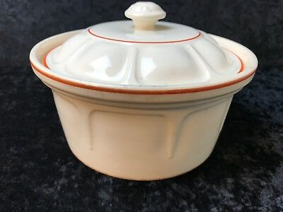 Universal Potteries Oven Proof Bittersweet Lidded Covered Casserole Dish Vintage