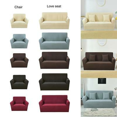 Stretch Elastic Fabric Sofa Cover Slipcover Couch Covers Spandex Protector