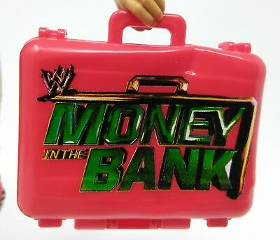 WWE Wrestling Mattel Blue Dented Money in the Bank Briefcase Accessory Figures