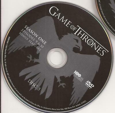 Game of Thrones HBO (DVD) First Season 1 Disc 5 Replacement Disc U.S. Issue!