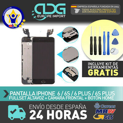 Pantalla LCD +Tactil FULL SET iPhone 6,6S PLUS Botón Home+Altavoz+Cámara frontal