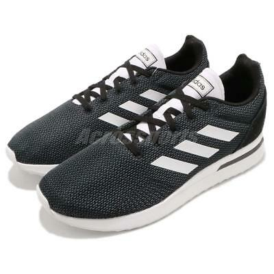 Adidas Mens Run 70s Fabric Low Top Lace Up Running, Black/White, Size 8.0 28ts