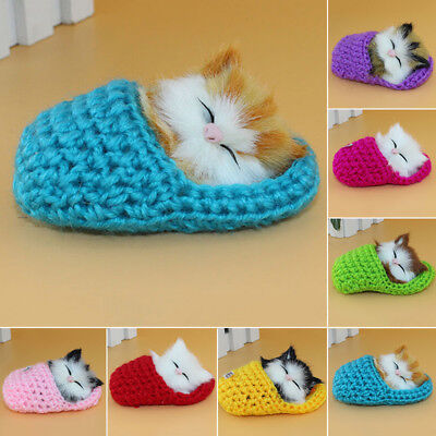 Cat Slipper Plush Toy Cute With Sound Stuffed Baby Kids Gift 10*6cm Xmas Gift