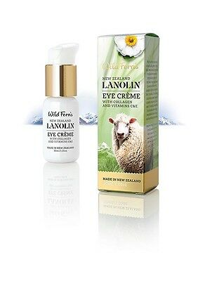 Wild Ferns New Zealand Lanolin Eye Creme with Collagen and Vitamin C & E 30ml