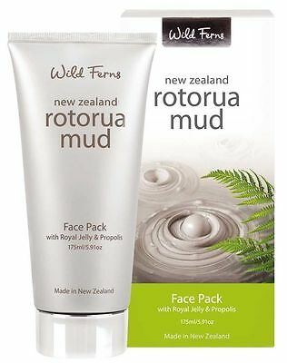 Wild Ferns New Zealand Rotorua Mud Face Pack with Royal Jelly & Propolis 175ml