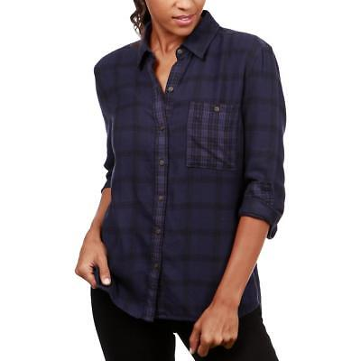 a828cab2eb074 Lucky Brand Womens Plaid Hi-Low Long Sleeves Button-Down Top Shirt BHFO 2382