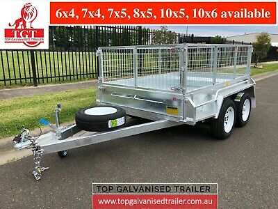 8x5 TANDEM TRAILER HEAVY DUTY HOT DIP GALVANISED GAGE ATM2000KG NEW TYRES