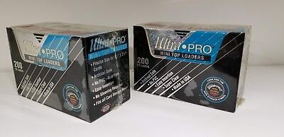 "400 Ultra Pro Mini Top Loaders 2 1/2"" x 3 1/2"" NEW Collector 2 box 2.5"" x 3.5"""
