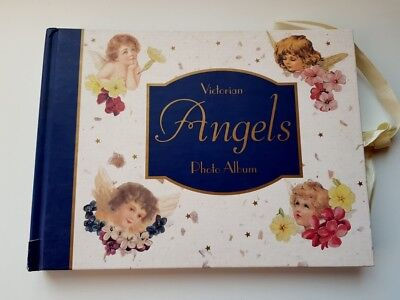 Victorian Angels Photograph Album Hardcover Cherub and Floral Illustrations