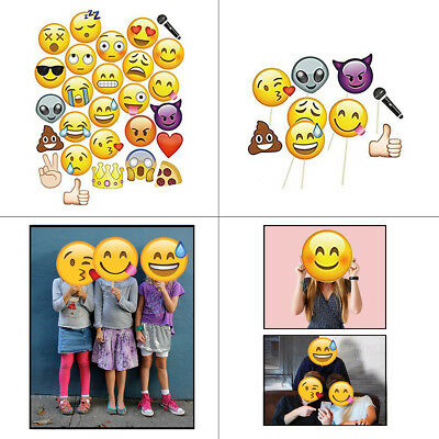 Emoji Faces Selfie Photo Booth Funny Mask Props Wedding Kids Party Photography