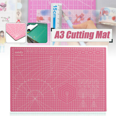 A3 PVC Thick Self Healing Cutting Mat Craft Quilting Art DIY Grid Lines 2 Sides
