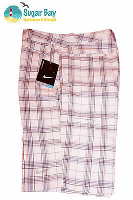 Nike Golf Mujer Stay Cool Permanecer Dri Calzones a Cuadros Rosa/Gris