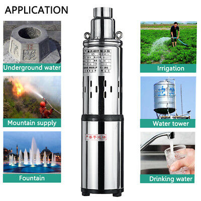 Solar Water Pump 24/48V Submersible Power Pump Bore Hole Pond Deep Well