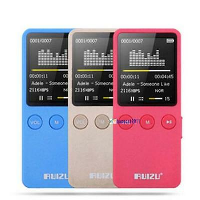 "1.8"" RUIZU X08 MP4 Player Ultrathin 8GB Hifi Lossless 200 Hours with FM Clock K1"