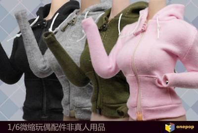ONEPOP 1/6 Female Leisure Wear Hooded Cardigan Clothes Accessory F 12'' Figure