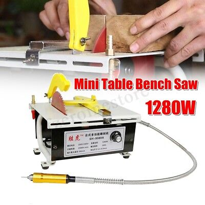 1280W Multifunction Mini Table Bench Saw Jade Carving Polishing Bench Grinder