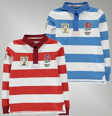 Boys RFU Long Sleeves Lightweight Top Bold Rugby Jersey Polo Sizes 7-13 Yrs