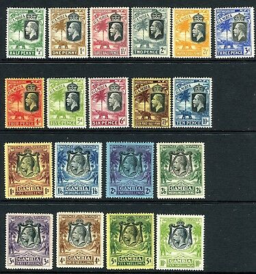 GAMBIA-1922-9  A mounted mint Multi Script set to 10/- Sg 122-142