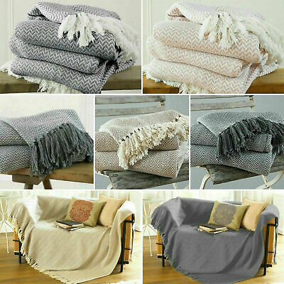 Large Xl Cotton Traditional Como Safi Blanket Home Chair