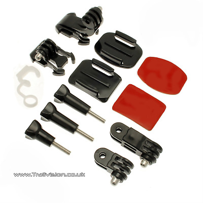 Grab Bag GoPro Hero  of Mounts Kit For 3 3+ 4 5 6 Go Pro HD Camera Accessories