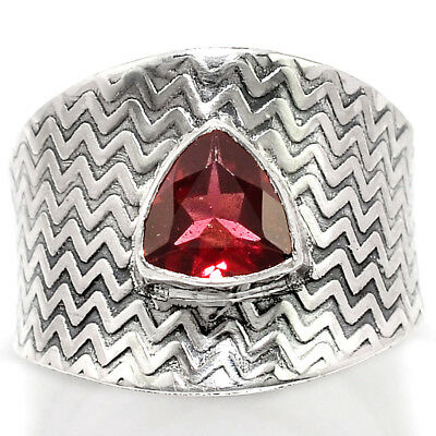 Israeli Design Hessonite Garnet 925 Sterling Silver Ring Jewelry s.8 RR46924