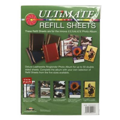 "Innova Ultimate Combination 6x4"" Photo Album Refill Sheets Slip-In Pack of 10"
