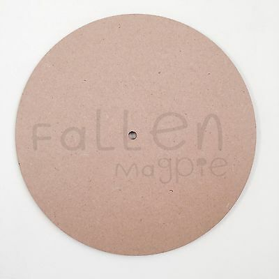 Wooden Wall Clock Face Round MDF Craft Blanks 10mm Centre Hole Wood