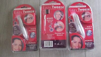 JOBLOT 6x Eazy Tweeze Lit Electrical Tweezers Battery Operated With Magnifier