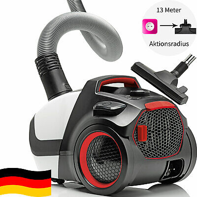 Made in Germany Energiespar Boden Staubsauger mit Beutel LED HEPA13 Allergiker !