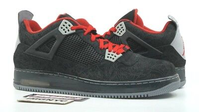 998942cdf297 Nike Air Jordan Fusion Ajf4 New Size 15 Laser Black Varsity Red 384393 001