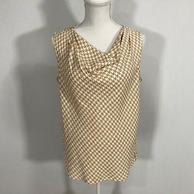 ae87dc4cafaf5 Talbots Women Sleeveless Blouse Top Shirt Size 8 Cowl Neck 100% Polyester  C152