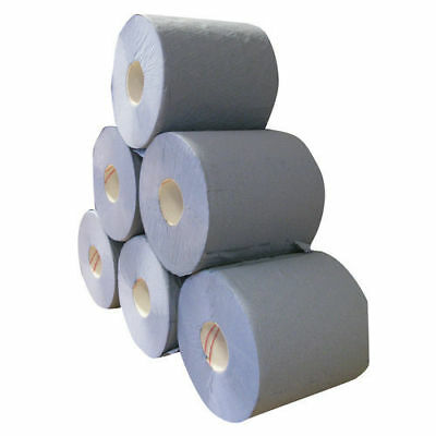 Everyday 2 Ply Centrefeed Blue Rolls Pack of 6 | Blue or White