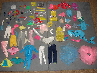 Barbie Skipper Dolls: Huge Lot Clothes Shoes Accessories 110+ pcs