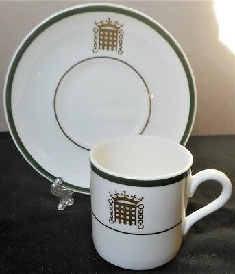 Wedgwood House Of Commons Coffee Can & Saucer, Perfect