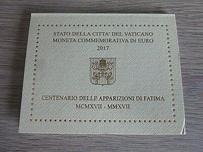 Coffret BU 2 euros commémorative Vatican 2017 /  Apparitions mariales de Fatima