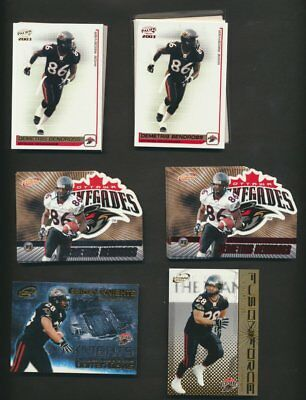 2003 Pacific Atomic CFL Ottawa Renegades  Team Lot of 43  With Parallels & Rare