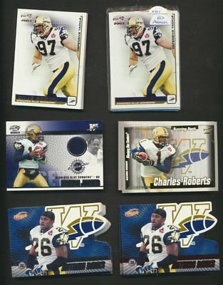 2003 Pacific Atomic CFL Winnipeg Blue Bombers Lot of 54 Parallels & Rare Inserts