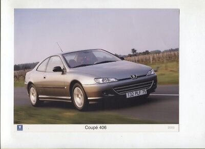 N°12194 / PEUGEOT coupé 406 de 2003 / photo couleur constructeur