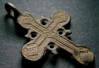 ANCIENT BRONZE CROSS RARE. RELIGIOUS ARTIFACT IN GREAT CONDITION. 37 mm. (F.125)