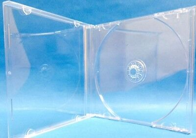 10 pcs Single Clear CD DVD Jewel Case Assembled Clear Tray, Standard 10.4mm CDSC