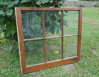 Vintage Sash Antique Wood Window Picture Frame Pinterest Stained *No Glass*