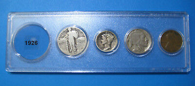 1926 US Coin Year Set 4 Coins 90% Silver