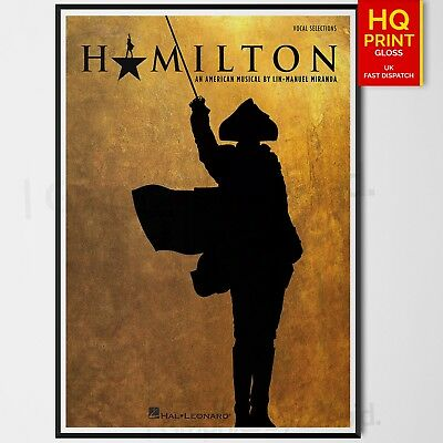 Hamilton Musical Poster Print #1 Wall Art Decor Merchandise | A4 A3 A2 A1 |