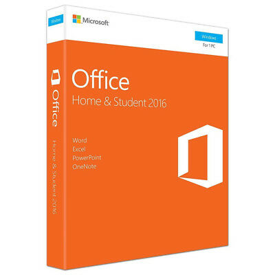 Microsoft Office Home and Student 2016 Retail Box Pack