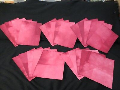 Lot of 25 Red/Pink Dip Dyed Hand-Dyed Papers, Plain - Junk Journal L208