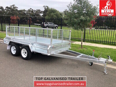 10x5 Tandem trailer galvanised with 600mm cage 2000kg ATM Heavy Duty Trailer New