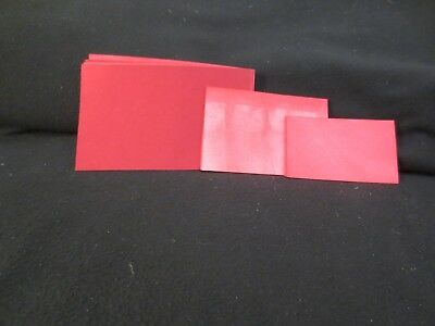 Lot of 30 Red/Pink Dip-Dyed Index Cards - 3 Sizes - I23 Junk Journal