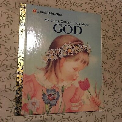 Rare My Golden Book About God Eloise Wilkin Board Book Vintage 1957