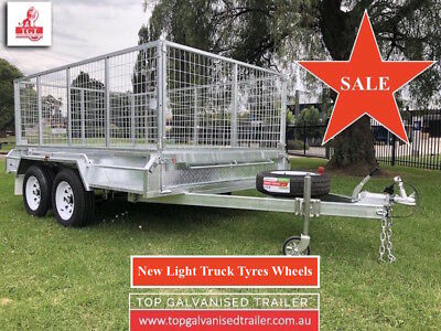 12x6 GALVANISED TANDEM TRAILER HEAVY DUTY BOX TRAILER NEW WHEELS FULLY WELDED