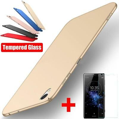 Phone Case Screen Protector Film For Sony X XA Ultra XA1 Plus XA2 Slim Hard Back